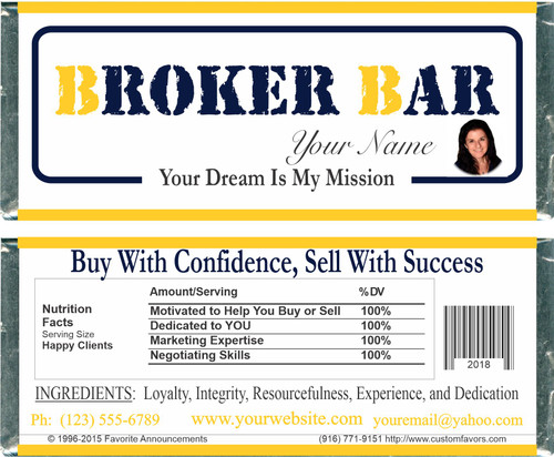 [WU11] Realtor Bar Wrappers - Front and Back