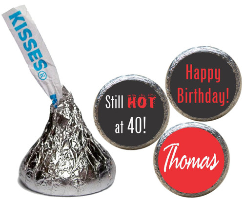 [KB16] Too Hot Birthday Stickers - with candy kiss