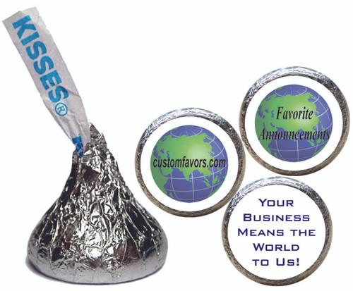 [KU05] Customer Appreciation Stickers - with candy kiss
