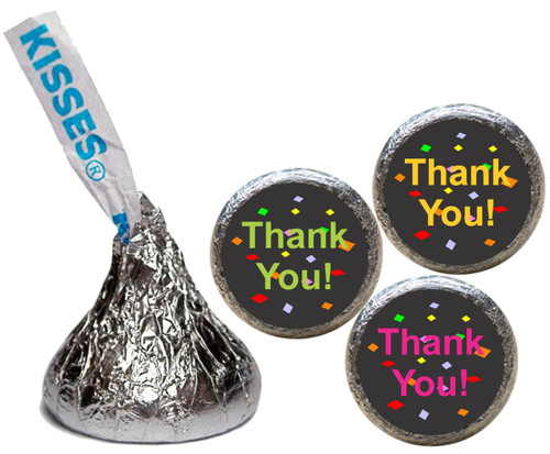 [KU06] Thank You Confetti Stickers - with candy kiss