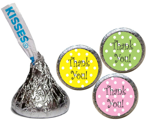 [KU08] Thank You Pastel Stickers - with candy kiss