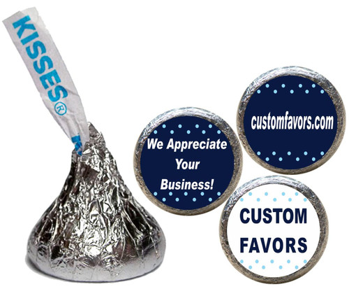 [KU09] Business Thank You Stickers - with candy kiss