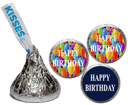 [KB19] Birthday Balloons Generic Stickers - with candy kiss