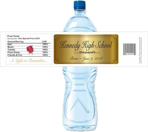 [YP46] Prom weatherproof water bottle label