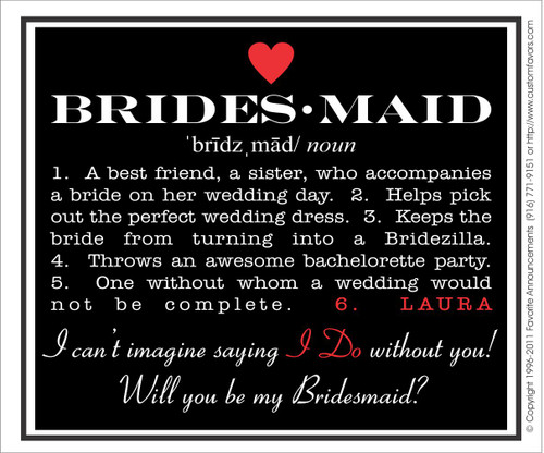 [LW133] Will You Be My Bridesmaid Wedding Label - champagne bottle