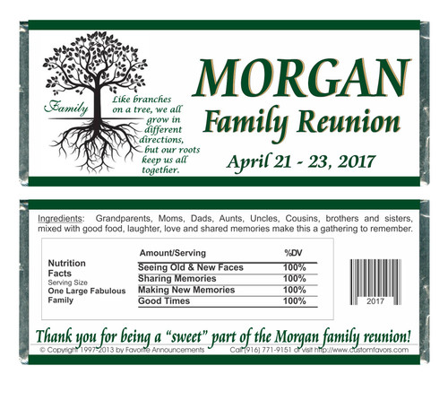 [W739] Family Reunion Tree Wrappers - Front and Back