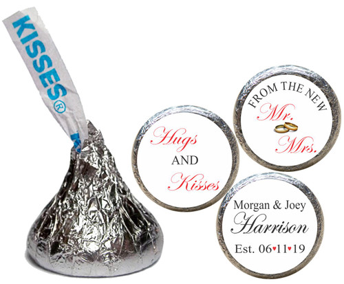 [KW27] Hugs & Kisses Wedding Sticker - Candy Kiss