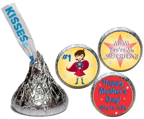 [KH51] Super Hero Mother's Day Sticker - with candy kiss