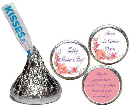 [KH52] Pastel Flowers Mother's Day Sticker - with candy kiss