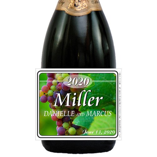 [LW158] Grape Wine Label - closeup