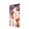 48 inch x 84 inch silverstep retractable banner stand side view