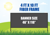 4 FT X 10 FT FIBER FRAME BANNER STAND HOLDS A 46 INCH X 118 INCH BANNER