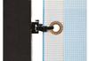 4 ft x  10 ft outdoor banner frame z-clip side close up