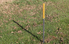 4 ft x 10 ft outdoor banner stand frame aluminum reflective mount stake.