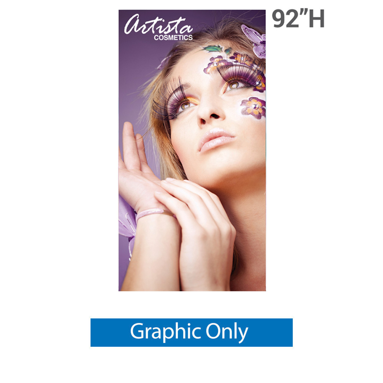 48 inch x 92 inch silverstep replacement printed banner graphic