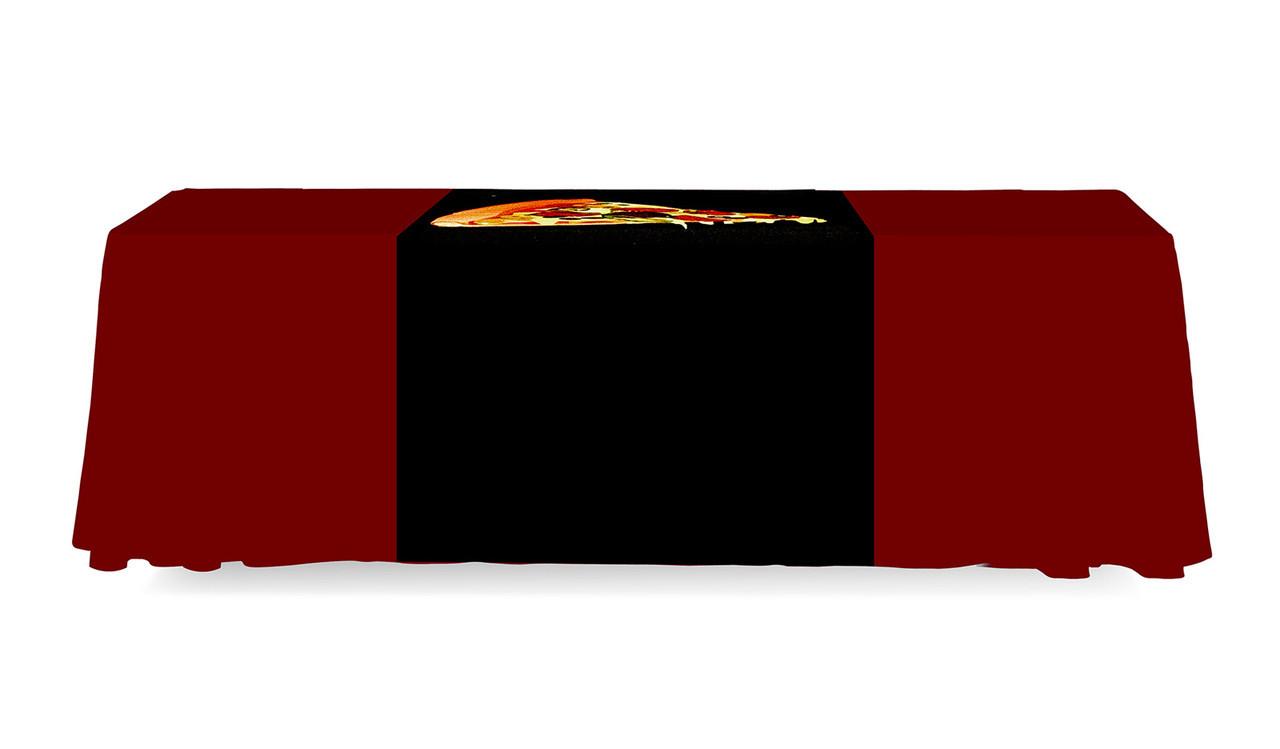 Table Runner 3 Ft. Full Back Dye Sub Print Back Side