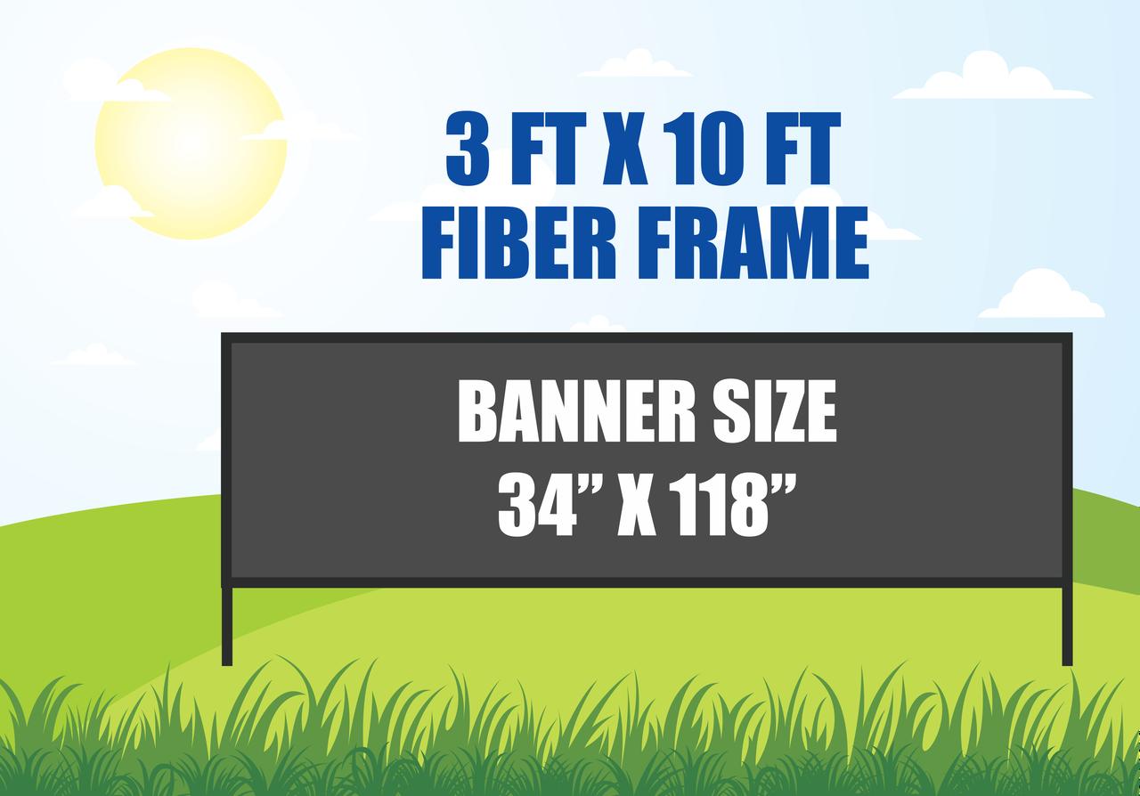 3x10 Outdoor Banner Stand Fiber Frame