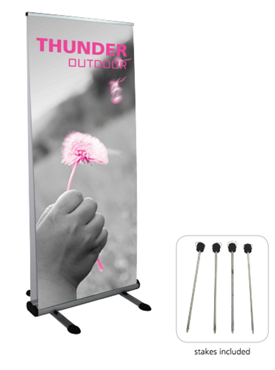 Thunder Full View Retractable Banner Stand for Outdoor Use