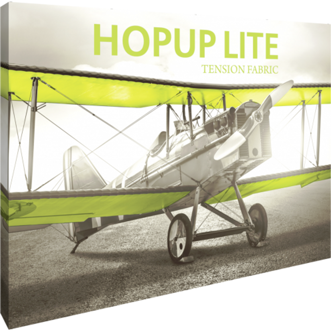 Hopup Lite 10 ft wide x 8 ft tall Fitted Graphic (with wrap around graphics that wrap around the side of the frame)