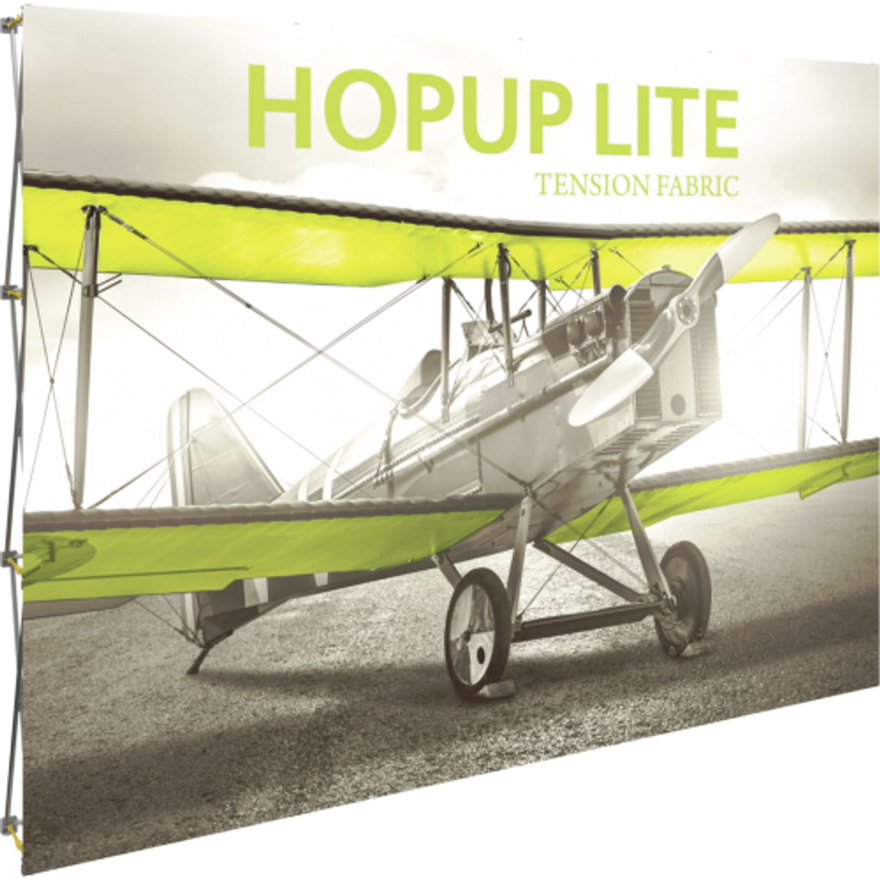 Hopup Lite 10 ft wide x 8 ft tall Front Graphic (no wrap around graphics)