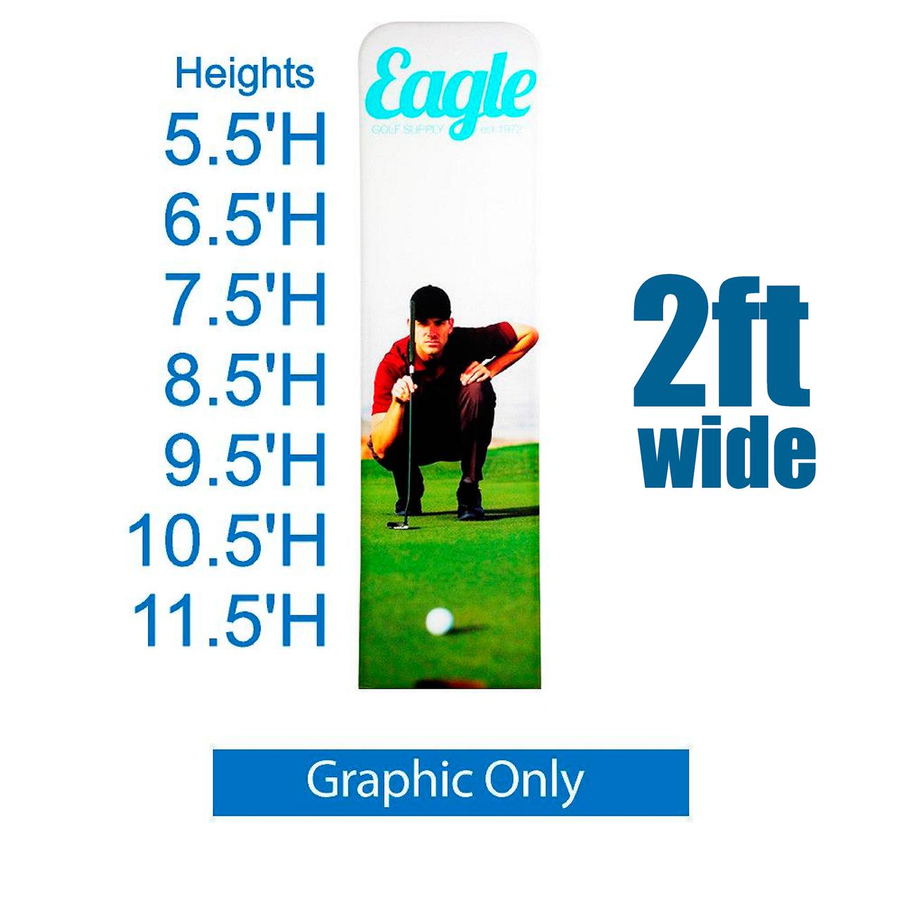 REPLACEMENT PRINT EZ Extend 2 ft width Tension Fabric - Premium 5.5 ft - 11.5 ft