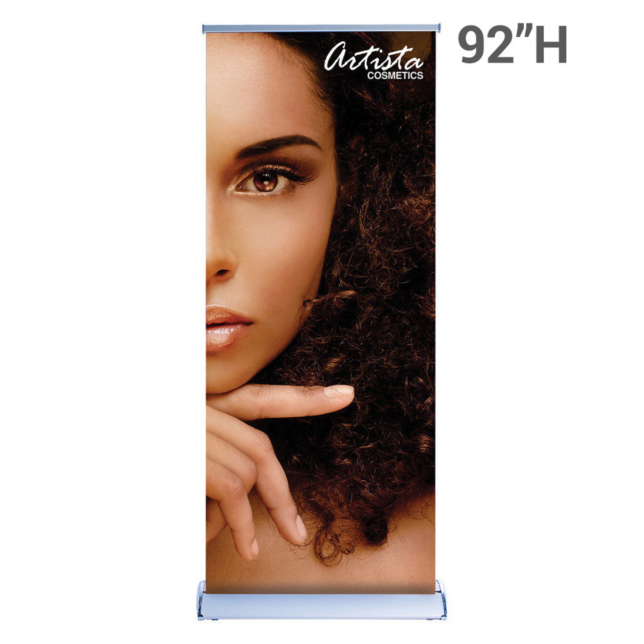 "Silverwing Retractable Banner Stand 33.5"" x 92"" with Printed Graphic"