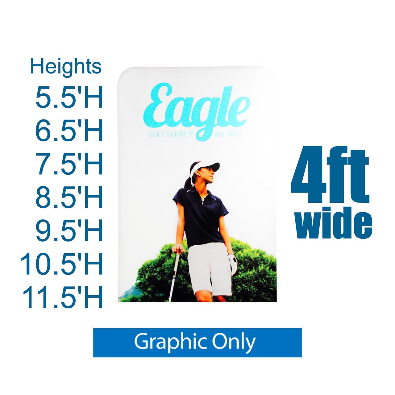REPLACEMENT PRINT EZ Extend 4 ft width Tension Fabric - Premium 5.5 ft - 11.5 ft