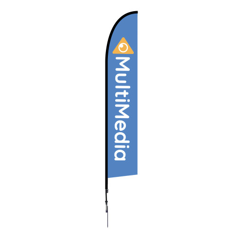 Falcon Flag - Large 14 ft Spike Base Single-Sided Graphic Package