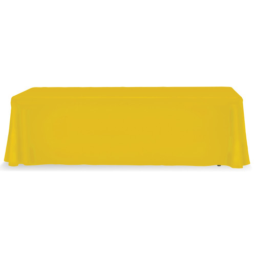 yellow 8 ft table throw stock