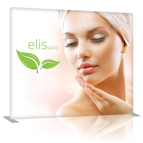 8 Ft. EZ Tube Display - Straight Double-Sided Graphic Package