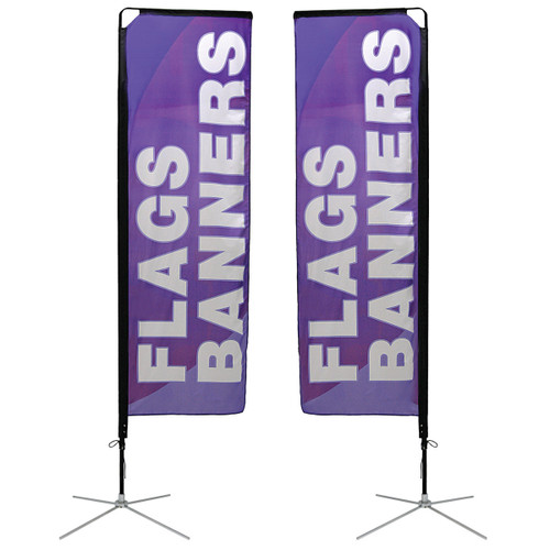 Small Mamba Flag X-Base Double Sided Graphic Package
