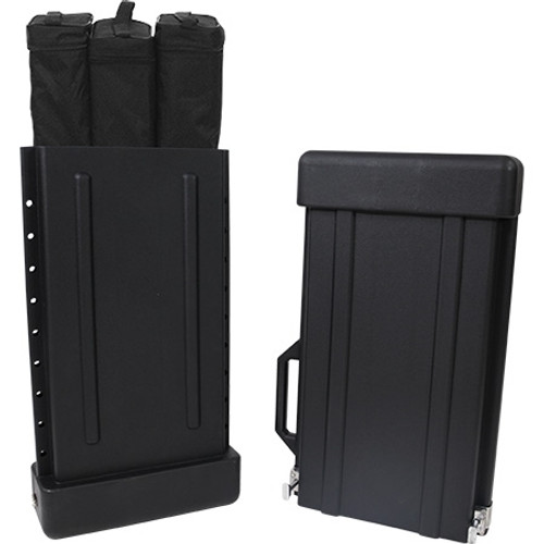 Expandable retractable banner stand case