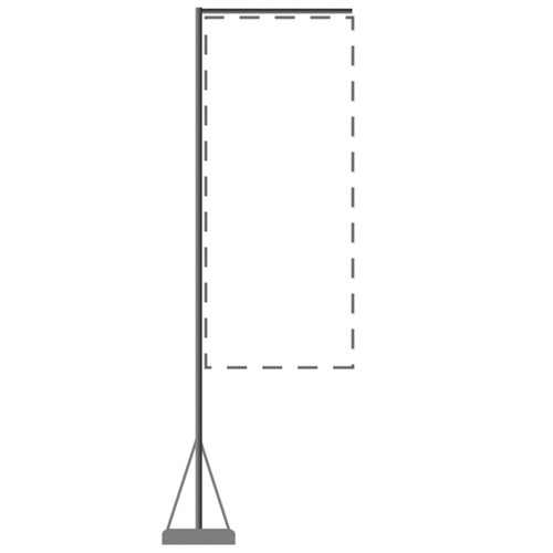 Mondo Flagpole 23 Ft. (Stand & Base Only)