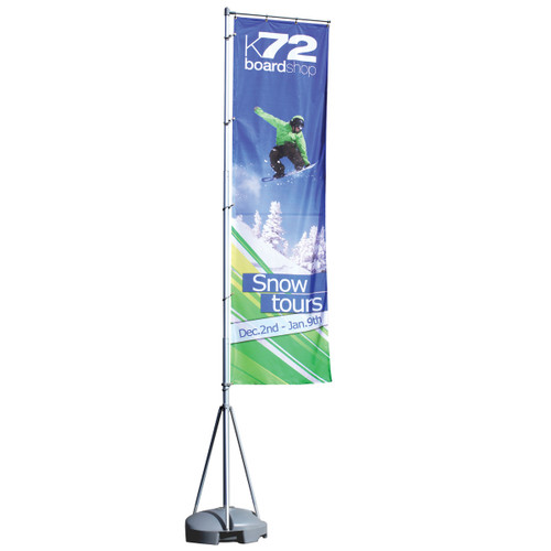 Mondo Flagpole 13 Ft. Single-Sided Graphic Package
