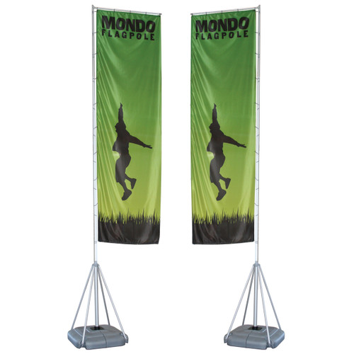 Mondo Flagpole 17 Ft. Double-Sided Graphic Package