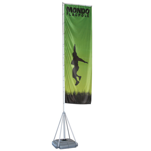 Mondo Flagpole 17 Ft. Single-Sided Graphic Package