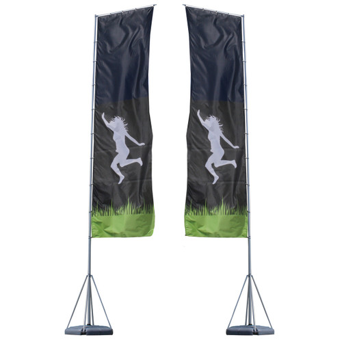 Mondo Flagpole 23 Ft. Double-Sided Graphic Package