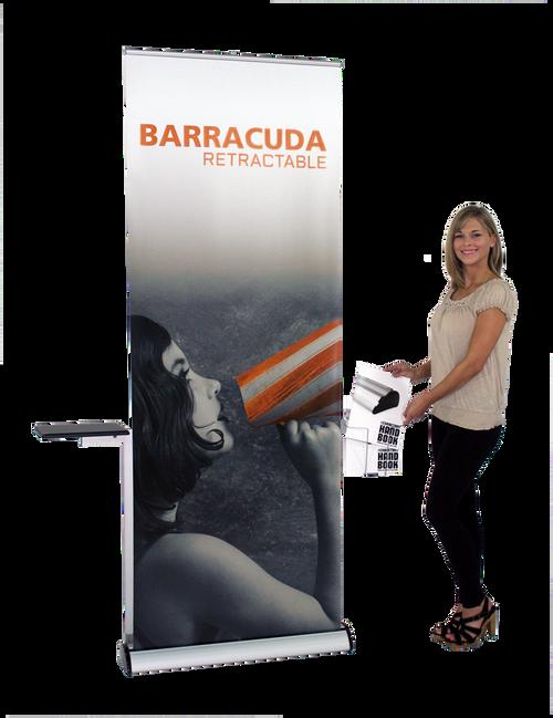 Showroom Sample Image Barracuda Retractable Banner Stand Display