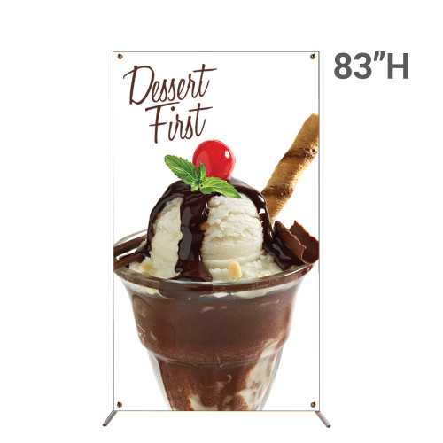 48 x 83 grasshopper x-stand large banner stand unit
