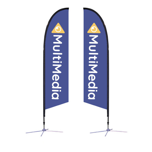 Falcon Flag - Medium 10.5' X-Base Double-Sided Graphic Package