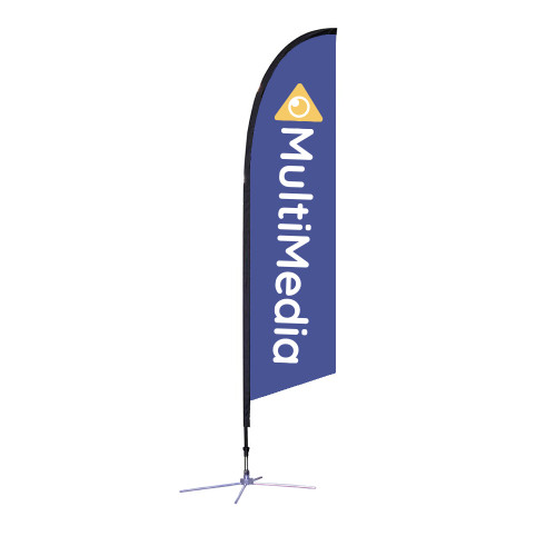 Falcon Flag - Medium 10.5' X-Base Single-Sided Graphic Package
