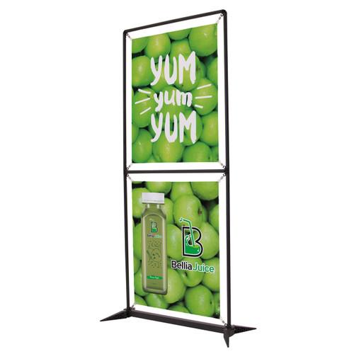 3.5 ft W x 6.5 ft H display unit called Frameworx stacks.