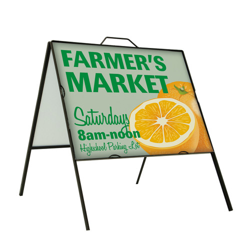 Super strong Angle Iron Frame Replacement Signboard Single-Sided 24 x 18