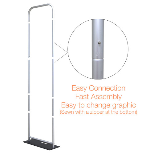 STAND ONLY EZ Extend 2 ft width Tension Fabric - Premium 5.5 ft - 11.5 ft