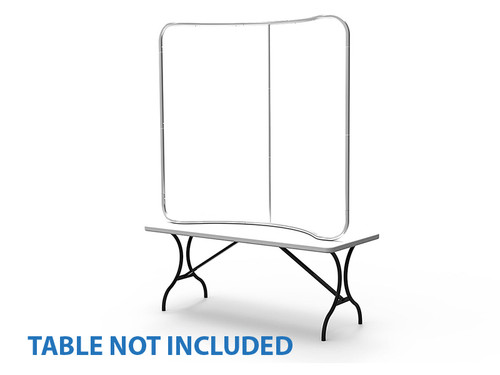 The 101 Stretch Fabric Curved Table Top Display (6 ft)