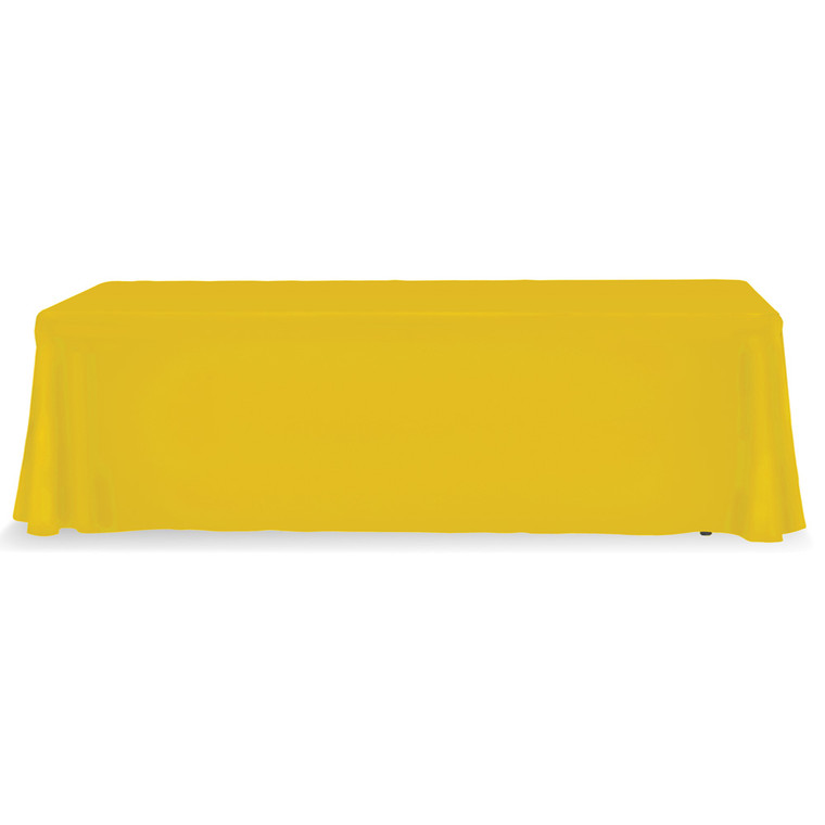 yellow 8 ft table throw stock