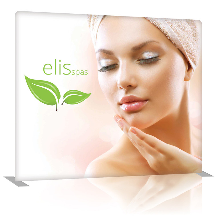 8 Ft. EZ Tube Display - Straight Single-Sided Graphic Package