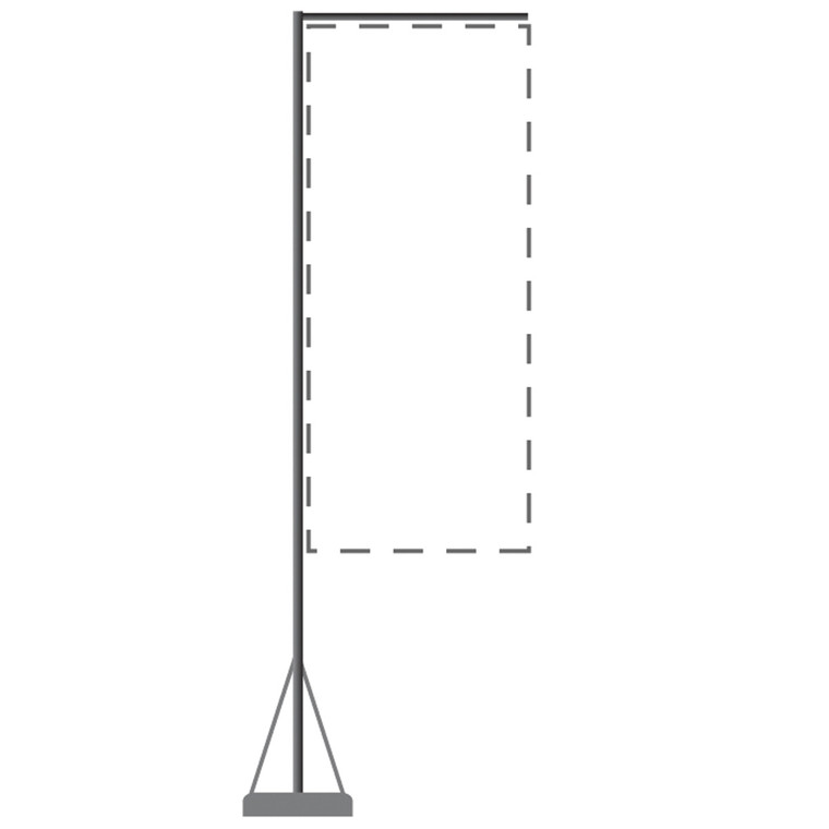Mondo Flagpole 17 Ft. (Stand & Base Only)