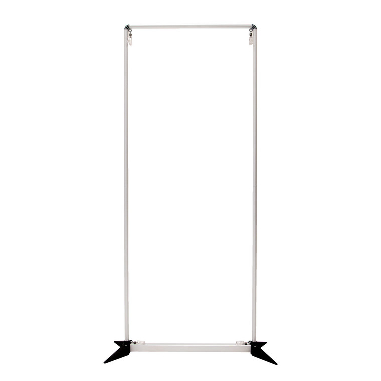 3' FrameWorx Banner Display Hardware straight shot of product