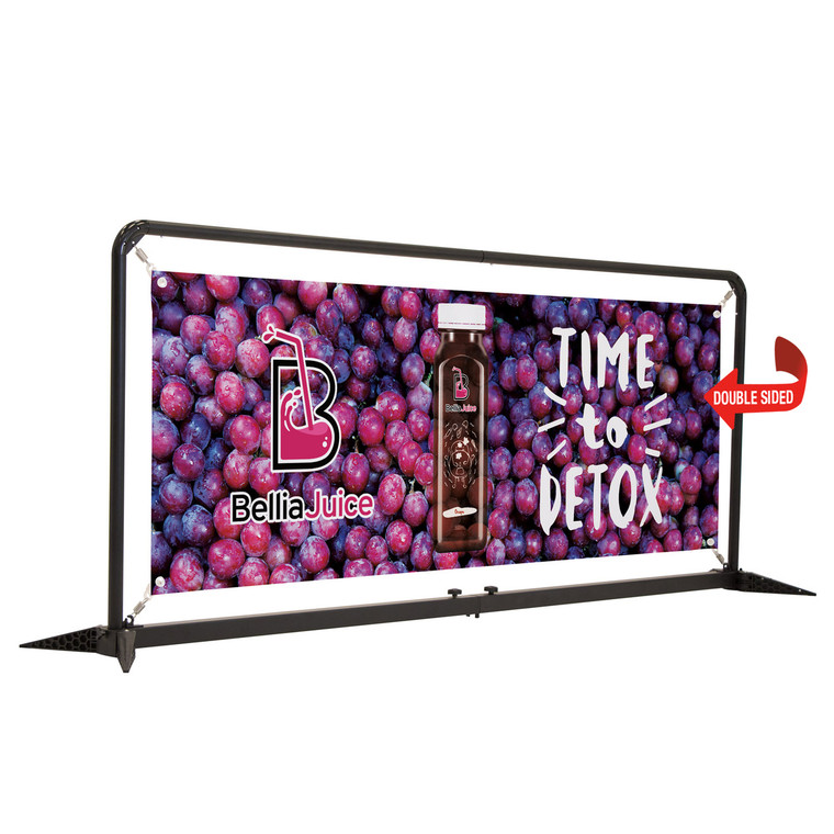 7' FrameWorx Barrier Kit Double Sided Graphic